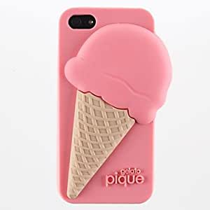 RC - Ice Cream Style Silicone Soft Case for iPhone 5/5S(Assorted Colors) , Green