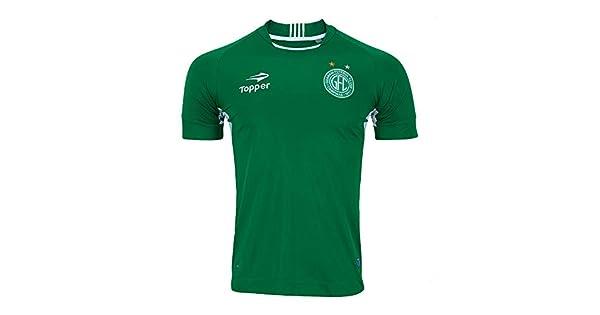 Camisa Topper 1 Sn Guarani Futebol Clube 2017 Verde branco  Amazon.com.br   Amazon Moda 7a10918797ad6