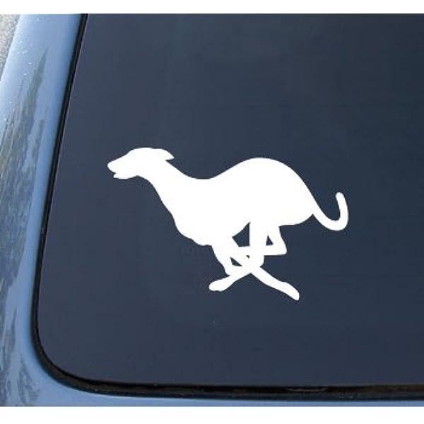 DETAILED GREYHOUND GREYHOUNDS DOG GRAPHIC DECAL STICKER ART CAR WALL DECOR