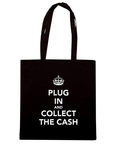 IN Shopper Nera Speed Borsa KEEP CASH PLUG Shirt THE CALM TKC0911 AND COLLECT AND wUpwqREz
