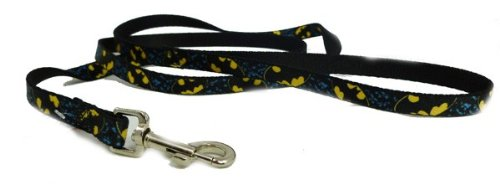 Batman Bat Signal Diagonal Little Dog Leash 1/2 Inch Width x 4 Feet (Dog Batman)