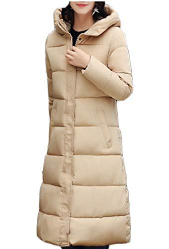 Warm Winter Long Womens TTYLLMAO Down Jackets Hooded Khaki Thick Coats Down RUP0SB