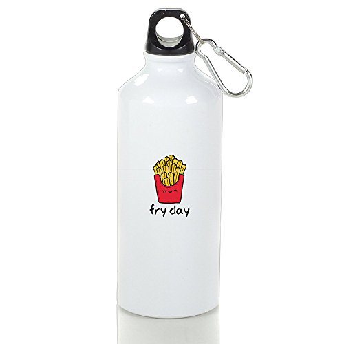 Guizhen Happy Fry Day Aluminum Portable Travel Sport Water Bottle (Advanced Warfare Halloween Costume)