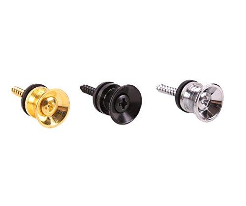 HOT SEAL 2pcs Guitar Strap Lock Locking Pegs Pins Metal End