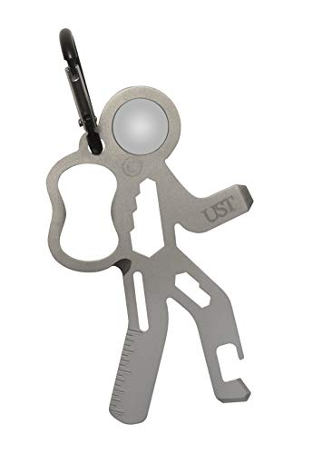 UST Stainless-Steel Tool A Long Multi-Tool Carabiner, Hiker