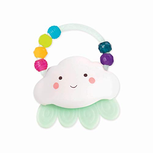 B. toys by Battat - Rain-Glow Squeeze - Light-Up Cloud Rattle for Babies 3 Months +