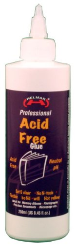Helmar Acid Free Glue, 8.45 Fluid Ounce