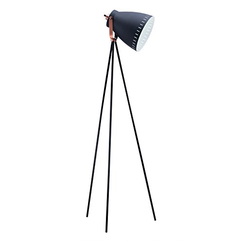Light Society LS-F201-BLK Grigsby Floor Lamp with Sand Textured Black