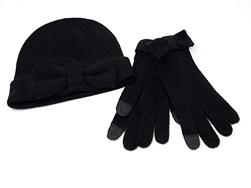 Kate Spade Colorblock Beanie and Tech-Friendly Glove Set in Gift Box