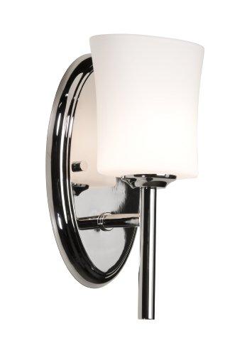 Artcraft iluminación Hazelton carriles 1-Light mueble de baño, chapado en cromo