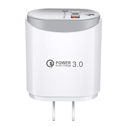 Rape Flower Fast Quick Charge QC 3.0 USB Hub Wall Charger 2.4A Power Adapter US Plug Phone (White)