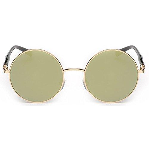 sol mujer C5 redonda estilo lente para retro Gafas vintage con juqilu Gafas de sol con de redondas aqn7HxZwz