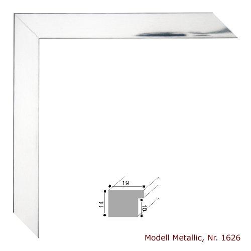 Amazon De Bilderrahmen Metallic Aluminium Silber Glanzend 40x60