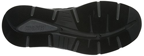 Waldläufer Haslo - Sneaker Uomo Nero (Velour Work Memphis Schwarz)