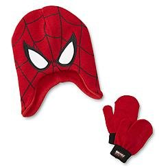 Marvel Spider-Man Toddler Boys Earflap Hat & Mittens (Berkshire Rib)
