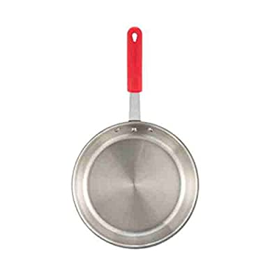 Winco FPT3-10, 10-Inch 3-Ply Fry Pan With Red Silicon Sleeve, Roasting Pan