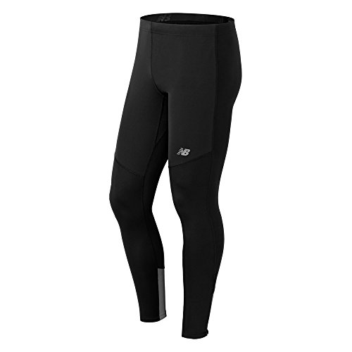 New Balance Men's Windblocker Tights, Black, Small