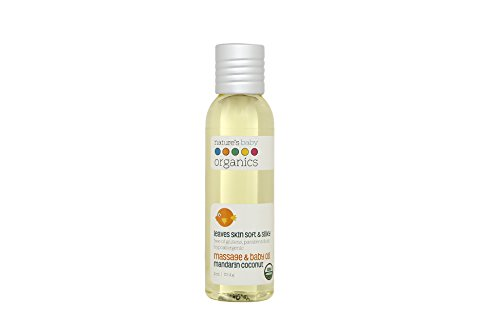Nature's Baby Organics Baby Oil, Mandarin Coconut, 4 oz. | Soothing Skin Relief for Babies, Kids, Adults! Gentle, and Soft | No Glutens, or Parabens (Baby Gentle Oil)