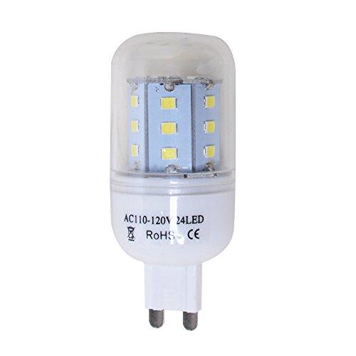 (Excellent 1 Piece 6500K Super Bright 2W LED Corn Light 24 2835 SMD 100-120V G9 Plug Cool)