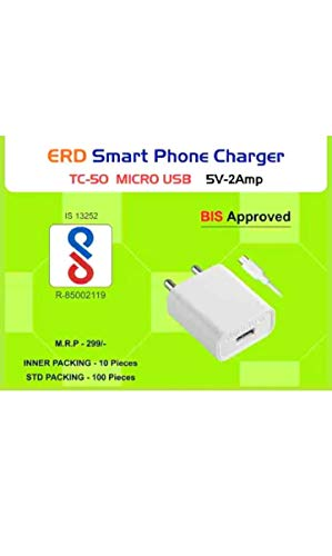 ERD USB Mobile Charger with Micro USB Data Cable 5V 2Amp.  TC 50
