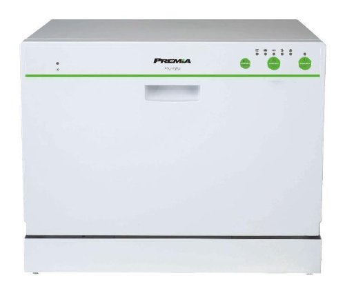Premia PDW-66EW 6 Place Setting Countertop Compact Dishwasher