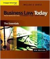 Book Cengage Advantage Books: Business Law Today: The Essentials 9th (nineth) edition Text Only