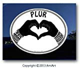 peace love cats decal - PLUR Decal - PEACE-LOVE-UNITY-RESPECT - I Love Rave- EDM- Bumper Sticker Decal.