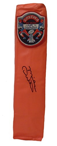 Hand Ditka Mike Signed - Dallas Cowboys Mike Ditka Autographed Hand Signed Super Bowl VI Full Size Logo Football Touchdown End Zone Pylon with Proof Photo of Michael Ditka Signing and COA