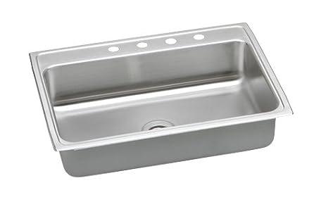 gourmet 31 u0026quot  x 22 u0026quot  x 7 63 u0026quot  lustertone kitchen sink     gourmet 31   x 22   x 7 63   lustertone kitchen sink faucet drillings      rh   amazon com