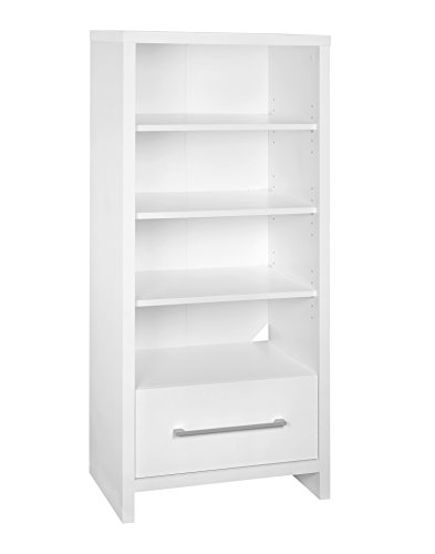 White Sliding Door Media Cabinet - ClosetMaid 1651 Media Storage Tower Bookcase with 2 Drawers, White