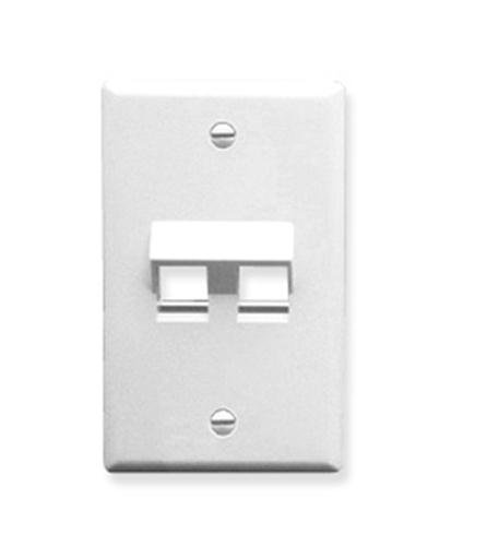 ICC Face Plate, Angled, 1-Gang, 2-Port, White (IC107DA2WH) ()