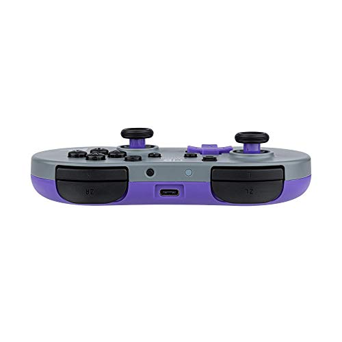 PDP Gaming Small Wireless Controller: Grey, Purple - Nintendo Switch