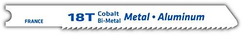 Century Drill and Tool 6218 Universal Shank Cobalt Bi-Metal Jig Saw Blade, 18T