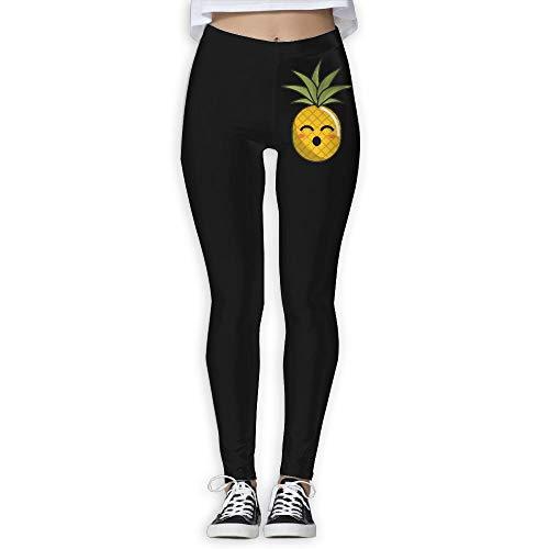 NO2XG Kawaii Cute Pineapple Women's Full-Length Pilates Leggings Yoga Pants by NO2XG
