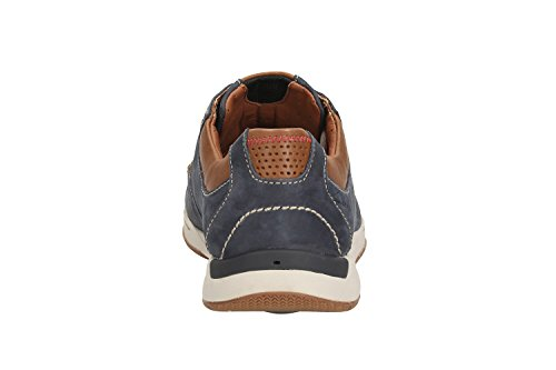 Clarks Casual Hombre Zapatos Javery Time En Nobuk Azul Tamaño 47