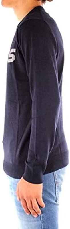 Guess M0BR53Z2PL0 Męskie-Pullover, für den Winter, mit Logo vorne, Größe XL, Hauptfarbe Blau: Odzież