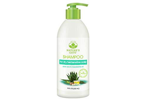 Natures Gates Moisturizing Shampoo with Aloe Vera, 18 oz