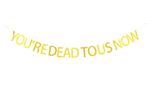 You're Dead to Us Now Banner,Retirement Party Decorations,Say Bye to Something Or Some One,Funny Party Hanging Décor Pertlife