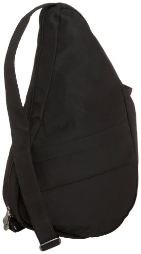 AmeriBag Medium Classic Microfiber Healthy Back Bag, Black ()