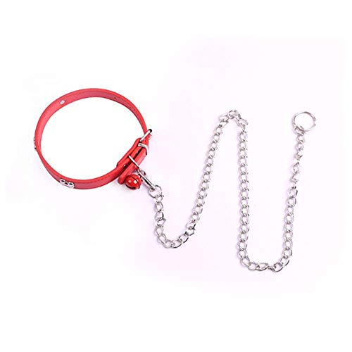 chengbaobaby Dog Collar Collar pin Buckle Collar Neck Collar with Traction Chain (red)