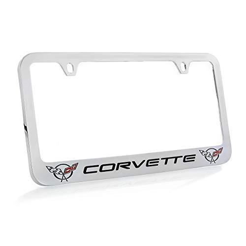 Chevrolet Corvette C5 Chrome Plated Metal License Plate Frame Holder