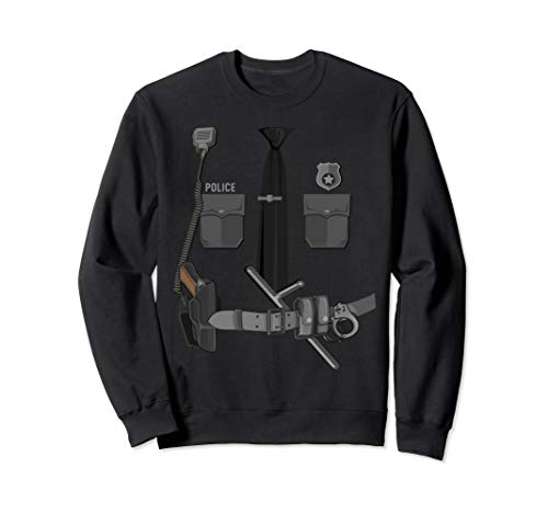 Funny Police Officer Halloween Cop Costume Police Shirt Gift Sweatshirt]()