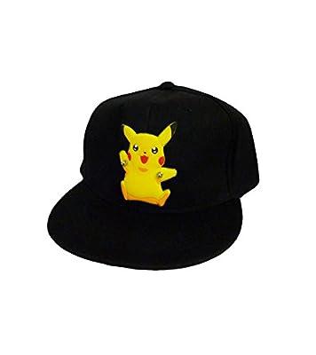 Pokemon: Black Snapback Baseball Hat - Diecut Happy Pikachu from Pokémons