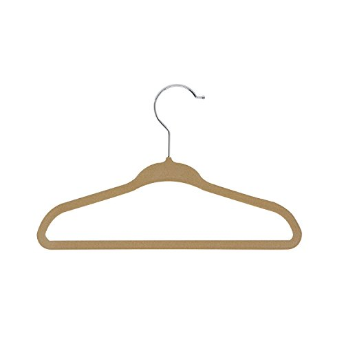 Honey-Can-Do HNG-01092 Kids Hangers Velvet Touch, Camel, 10-Pack by Honey-Can-Do