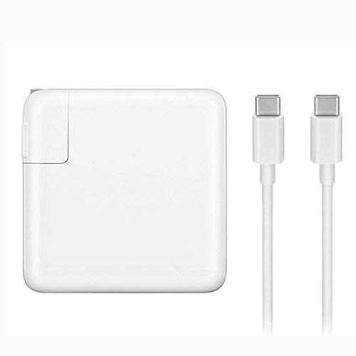 Mac Book Pro Charger, 61W USB Type C Power Adapter Compatible with MacBook Pro 13-Inch, MacBook Air 2018, Included USB-C Charge Cable (6.56ft/2m) (Best Power Supply 2019)