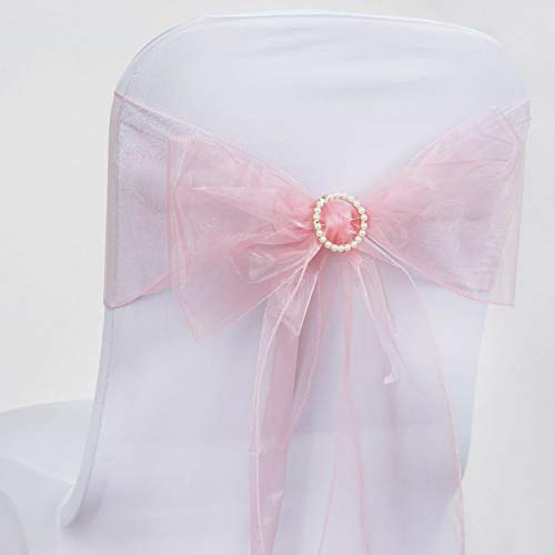 (Mikash Organza Chair Sashes Bows Ties Wedding Reception Decorations Dinner Wholesale | Model WDDNGDCRTN - 3970 | 250 pcs)