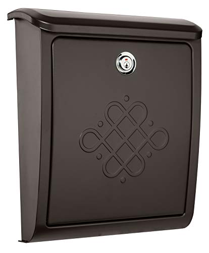 Architectural Mailboxes 2697RZ-10 Bordeaux Locking Wall Mount Mailbox Small Rubbed Bronze