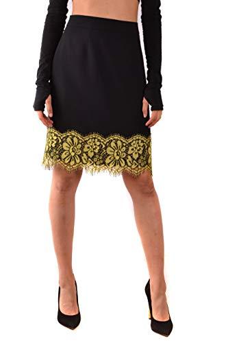 Boutique Moschino Women's Mcbi38227 Black Acetate Skirt