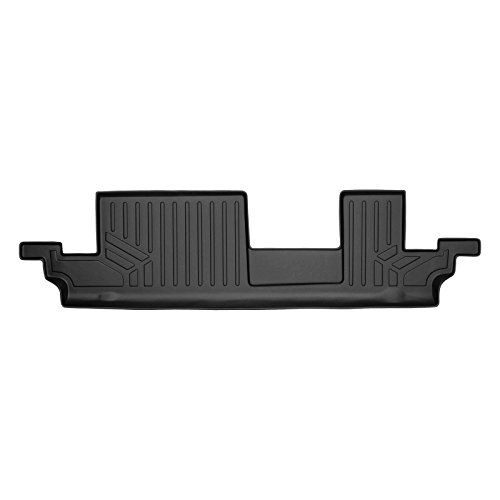 SMARTLINER Floor Mats 3rd Row Liner Black for 2018-2019 Chevrolet Traverse / Buick Enclave with 2nd Row Bench ()