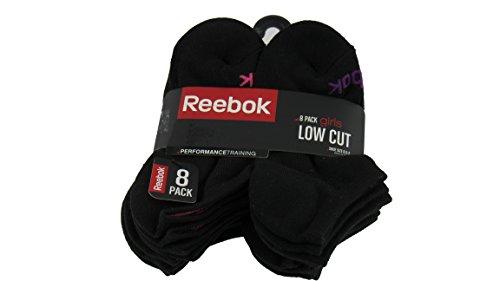 Reebok 8 Pack Girls Low Cut Performance Training Socks by Unknown